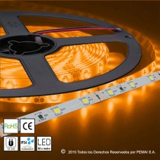 Tiras LED M35 Amarillo 60 LED por Metro IP54 Exterior
