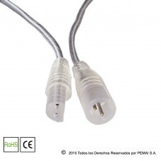 Conector DC Transparente Waterproof 2 Pin