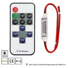 Dimmer Mini para Tiras Led Monocolor + Control RF