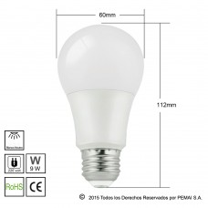Lámparas LED E27 9W Blanco Neutro