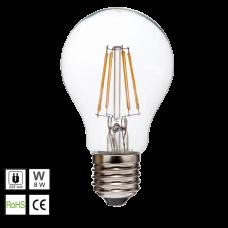 Lámparas LED E27 COB filamento 8W