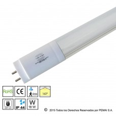 Tubo LED  con Sensor de Movimientos Radar, 18W, 120CM, 20-100% Blanco Neutro